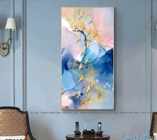 Bo tranh Canvas treo tuong trang tri phong khach truu tuong TT0955