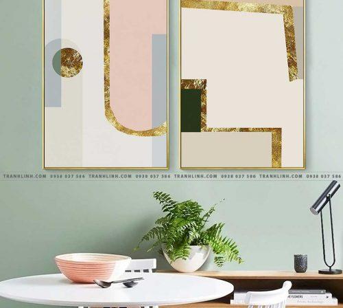Bo tranh Canvas treo tuong trang tri phong khach truu tuong TT0957