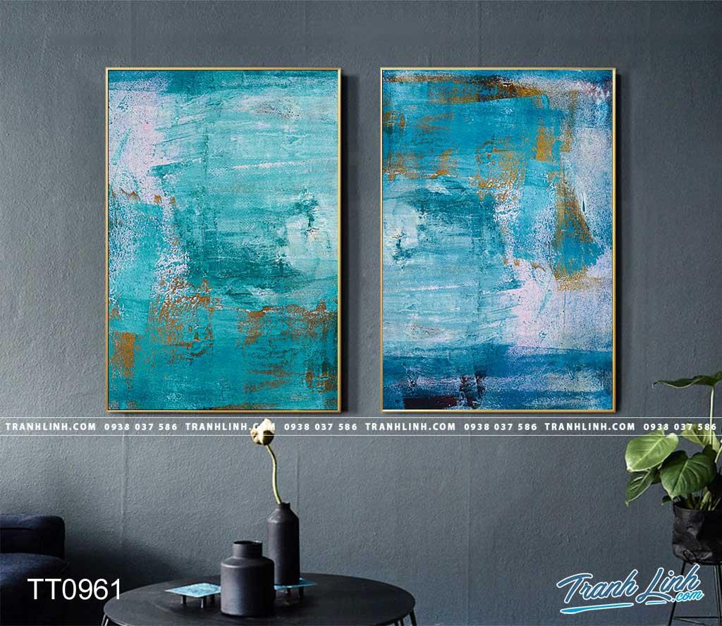 Bo tranh Canvas treo tuong trang tri phong khach truu tuong TT0961