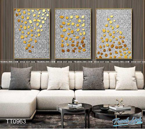 Bo tranh Canvas treo tuong trang tri phong khach truu tuong TT0963