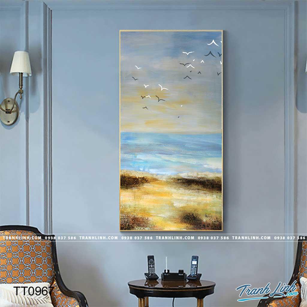 Bo tranh Canvas treo tuong trang tri phong khach truu tuong TT0967