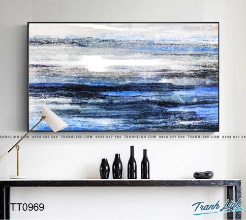 Bo tranh Canvas treo tuong trang tri phong khach truu tuong TT0969