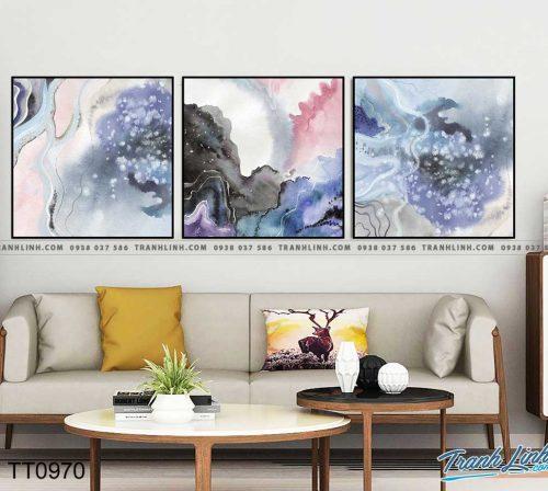 Bo tranh Canvas treo tuong trang tri phong khach truu tuong TT0970