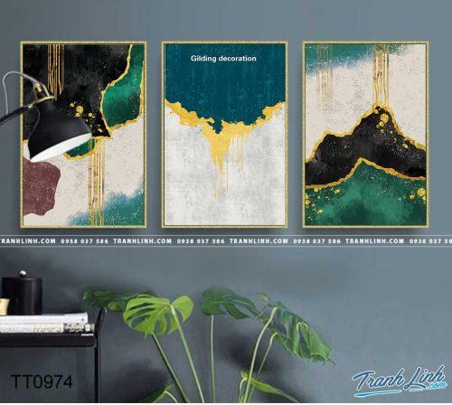 Bo tranh Canvas treo tuong trang tri phong khach truu tuong TT0974