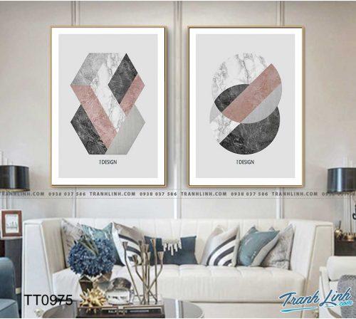 Bo tranh Canvas treo tuong trang tri phong khach truu tuong TT0975