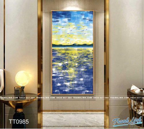 Bo tranh Canvas treo tuong trang tri phong khach truu tuong TT0985