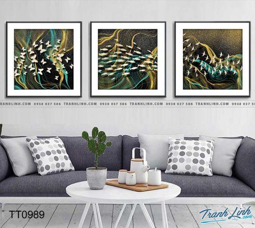 Bo tranh Canvas treo tuong trang tri phong khach truu tuong TT0989