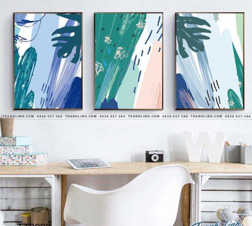 Bo tranh Canvas treo tuong trang tri phong khach truu tuong TT0993 1