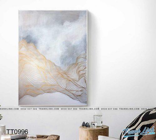 Bo tranh Canvas treo tuong trang tri phong khach truu tuong TT0996