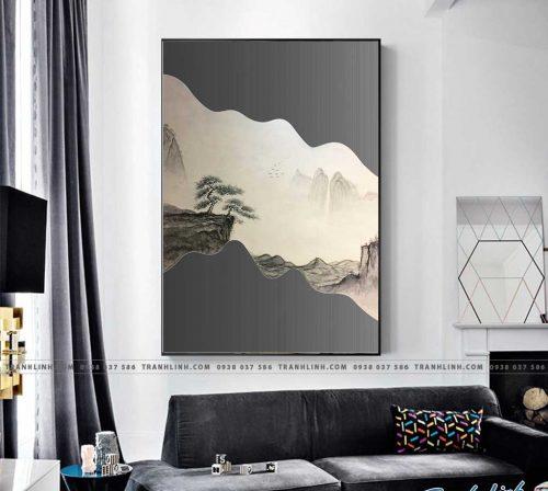 Bo tranh Canvas treo tuong trang tri phong khach truu tuong TT0997