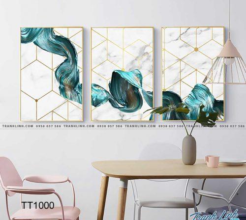 Bo tranh Canvas treo tuong trang tri phong khach truu tuong TT1000