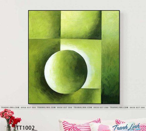 Bo tranh Canvas treo tuong trang tri phong khach truu tuong TT1002