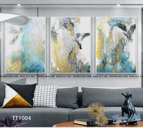 Bo tranh Canvas treo tuong trang tri phong khach truu tuong TT1004