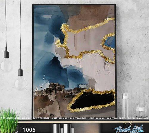 Bo tranh Canvas treo tuong trang tri phong khach truu tuong TT1005