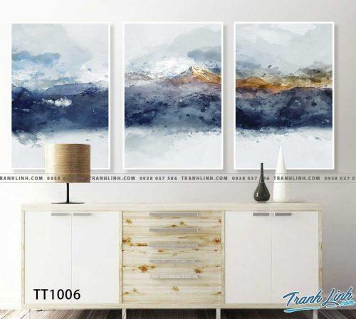Bo tranh Canvas treo tuong trang tri phong khach truu tuong TT1006