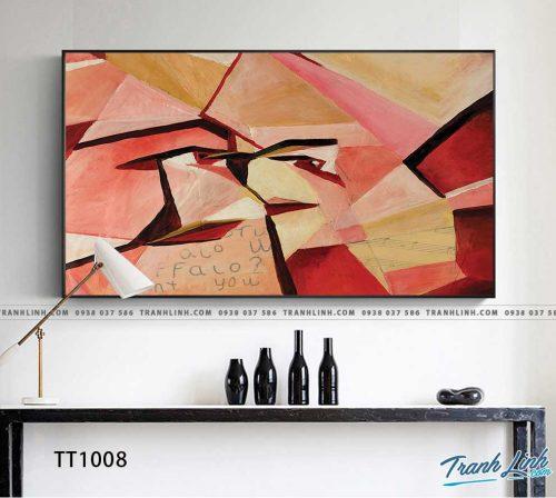 Bo tranh Canvas treo tuong trang tri phong khach truu tuong TT1008