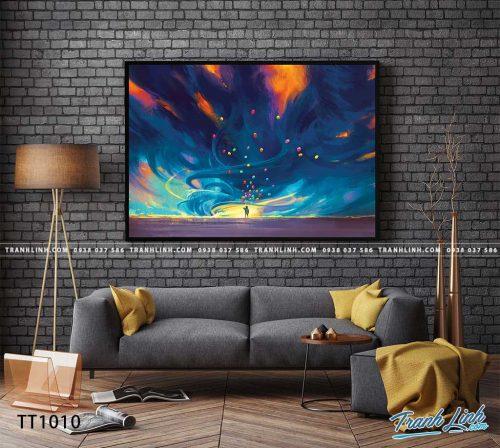 Bo tranh Canvas treo tuong trang tri phong khach truu tuong TT1010