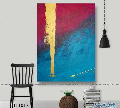 Bo tranh Canvas treo tuong trang tri phong khach truu tuong TT1017