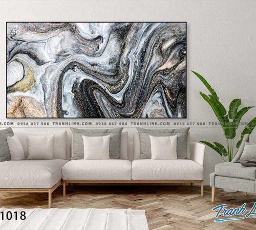 Bo tranh Canvas treo tuong trang tri phong khach truu tuong TT1018