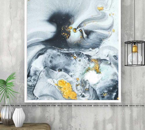 Bo tranh Canvas treo tuong trang tri phong khach truu tuong TT1020