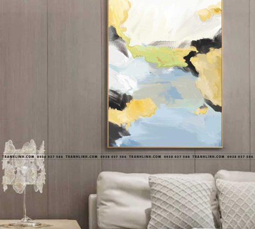 Bo tranh Canvas treo tuong trang tri phong khach truu tuong TT1021