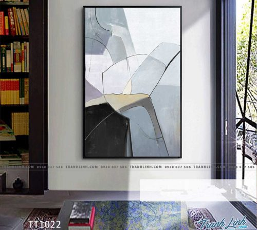 Bo tranh Canvas treo tuong trang tri phong khach truu tuong TT1022
