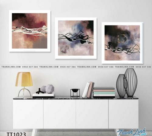Bo tranh Canvas treo tuong trang tri phong khach truu tuong TT1023