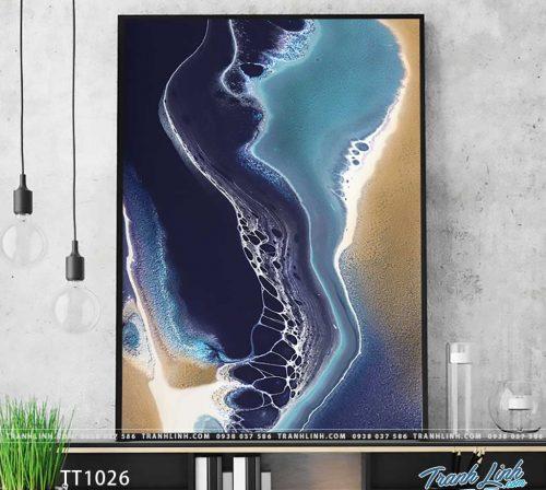 Bo tranh Canvas treo tuong trang tri phong khach truu tuong TT1026