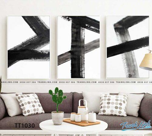 Bo tranh Canvas treo tuong trang tri phong khach truu tuong TT1030