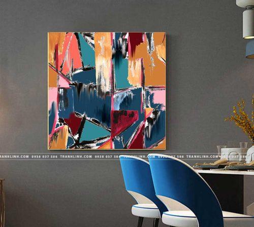 Bo tranh Canvas treo tuong trang tri phong khach truu tuong TT1031
