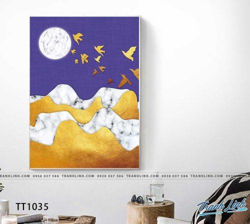 Bo tranh Canvas treo tuong trang tri phong khach truu tuong TT1035