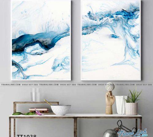Bo tranh Canvas treo tuong trang tri phong khach truu tuong TT1038