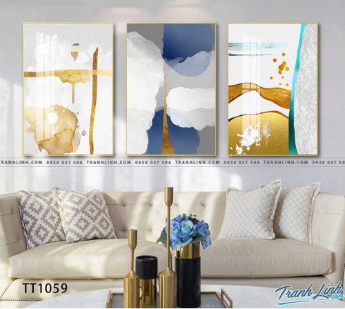 Bo tranh Canvas treo tuong trang tri phong khach truu tuong TT1059