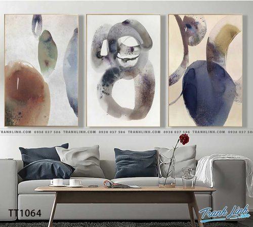 Bo tranh Canvas treo tuong trang tri phong khach truu tuong TT1064