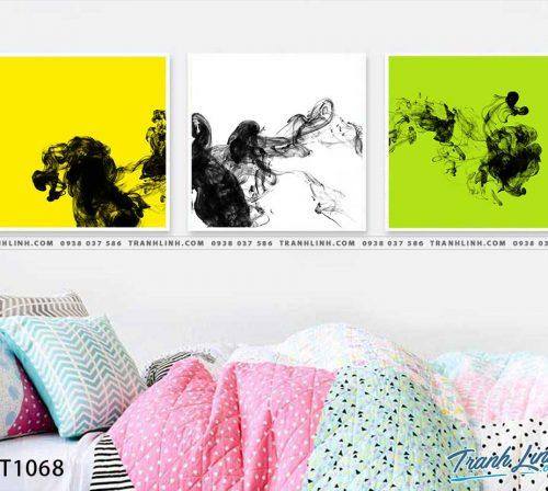 Bo tranh Canvas treo tuong trang tri phong khach truu tuong TT1068