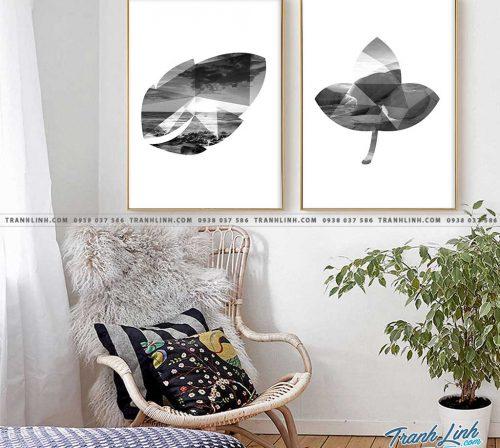 Bo tranh Canvas treo tuong trang tri phong khach truu tuong TT1070