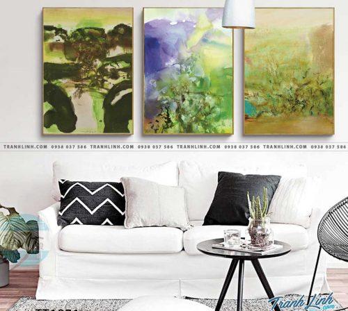 Bo tranh Canvas treo tuong trang tri phong khach truu tuong TT1071