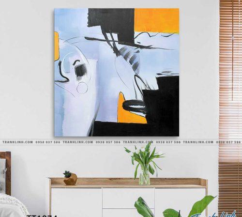 Bo tranh Canvas treo tuong trang tri phong khach truu tuong TT1074