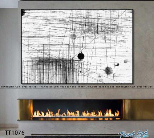 Bo tranh Canvas treo tuong trang tri phong khach truu tuong TT1076