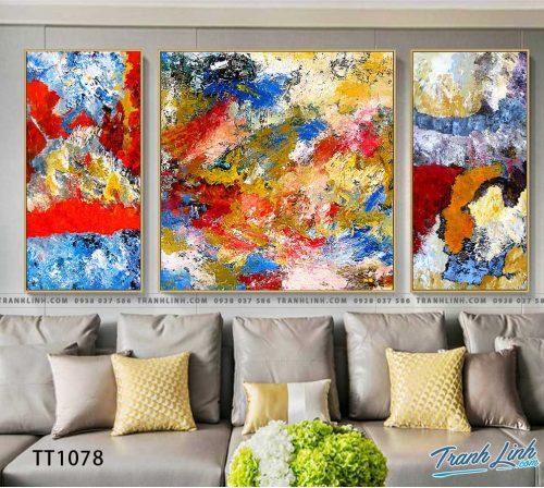 Bo tranh Canvas treo tuong trang tri phong khach truu tuong TT1078