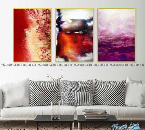 Bo tranh Canvas treo tuong trang tri phong khach truu tuong TT1081