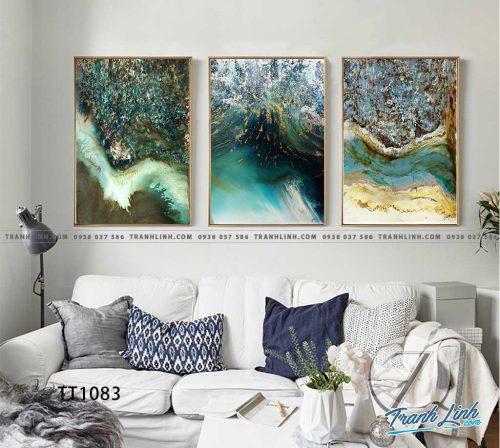 Bo tranh Canvas treo tuong trang tri phong khach truu tuong TT1083