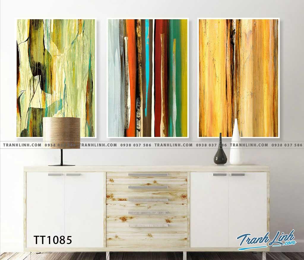 Bo tranh Canvas treo tuong trang tri phong khach truu tuong TT1085