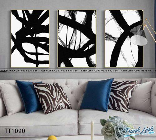 Bo tranh Canvas treo tuong trang tri phong khach truu tuong TT1090