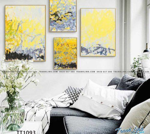 Bo tranh Canvas treo tuong trang tri phong khach truu tuong TT1093
