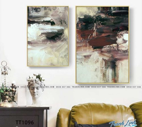 Bo tranh Canvas treo tuong trang tri phong khach truu tuong TT1096