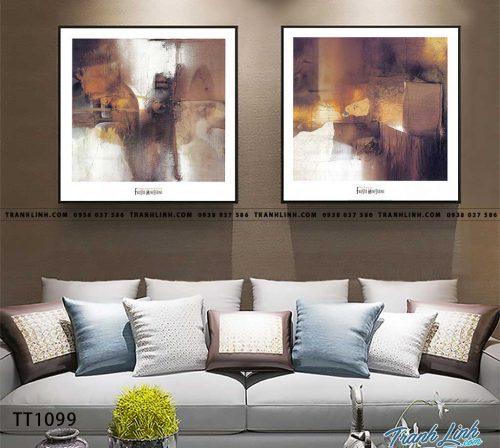 Bo tranh Canvas treo tuong trang tri phong khach truu tuong TT1099