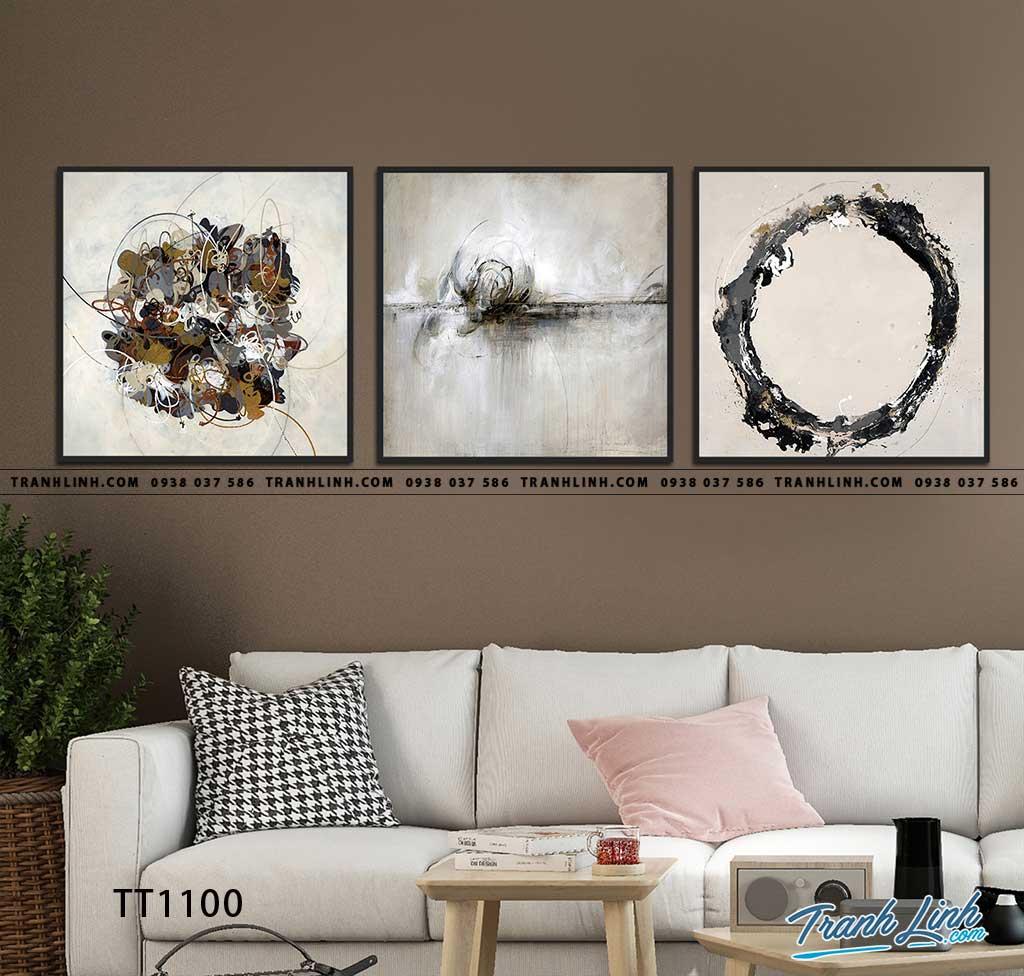Bo tranh Canvas treo tuong trang tri phong khach truu tuong TT1100