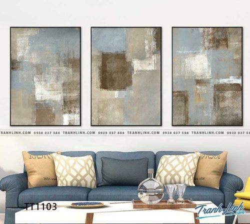 Bo tranh Canvas treo tuong trang tri phong khach truu tuong TT1103