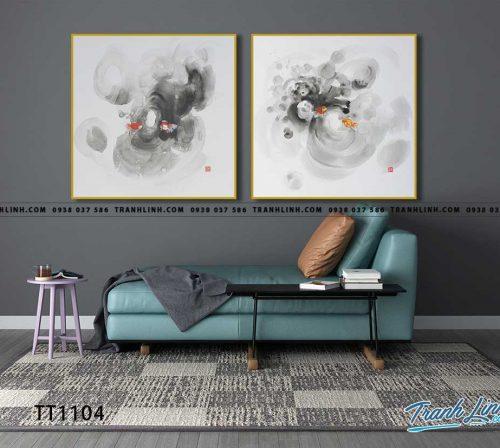 Bo tranh Canvas treo tuong trang tri phong khach truu tuong TT1104